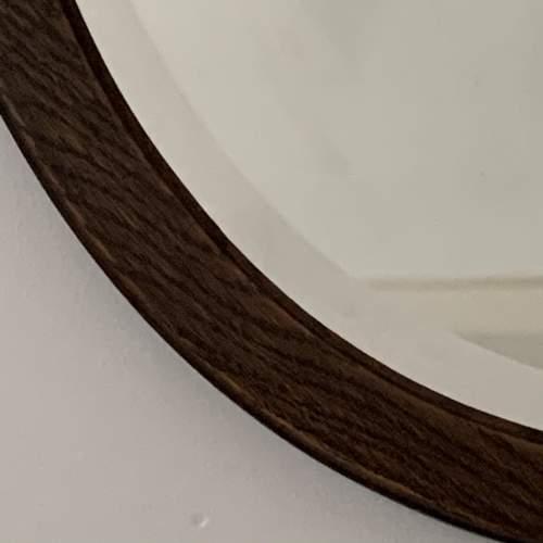 Oak Framed Bevelled Edge Oval Mirror image-3