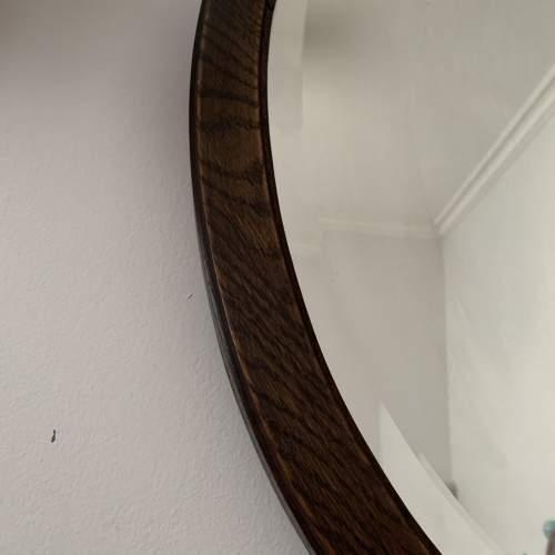 Oak Framed Bevelled Edge Oval Mirror image-4
