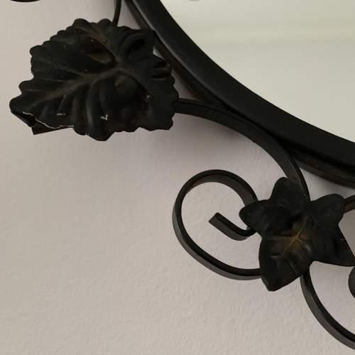 Round Metal Black Ivy Framed Mirror image-4
