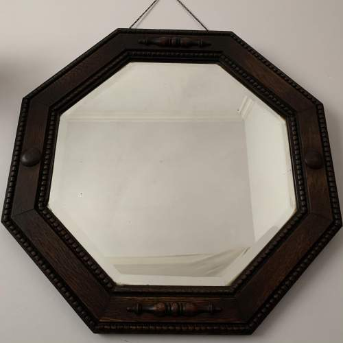 Octagonal Oak Framed Mirror image-1