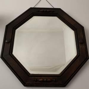 Octagonal Oak Framed Mirror
