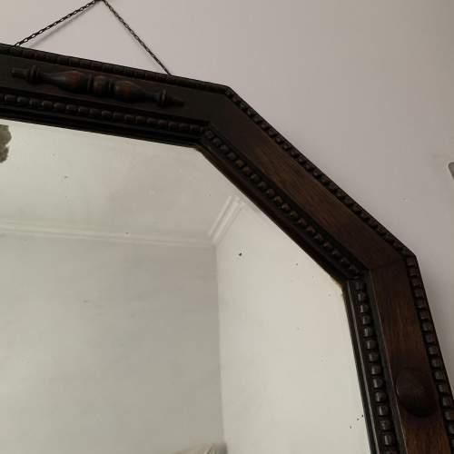 Octagonal Oak Framed Mirror image-2