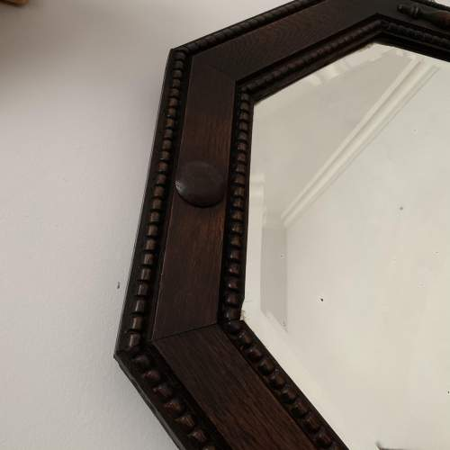 Octagonal Oak Framed Mirror image-4