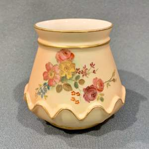 19th Century Royal Worcester Blush Ivory Short Vase