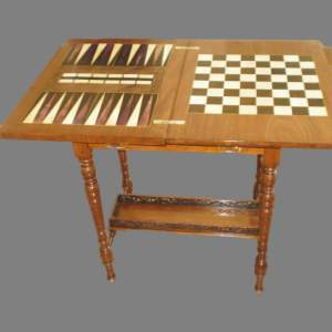 A Neat Walnut Victorian Games Table