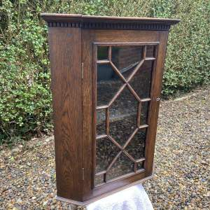 Small 19th Century Oak Hanging Corner Cabinet