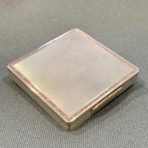 Mid 20th Century Heavy Silver and Gold Compact