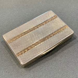 20th Century Silver Card Case with Gold Accents