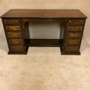 19th Century Walnut Pedestal Desk