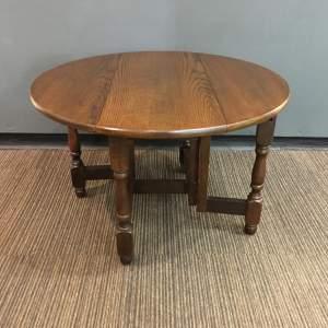 Oak Small Drop Leaf Gateleg Coffee Table