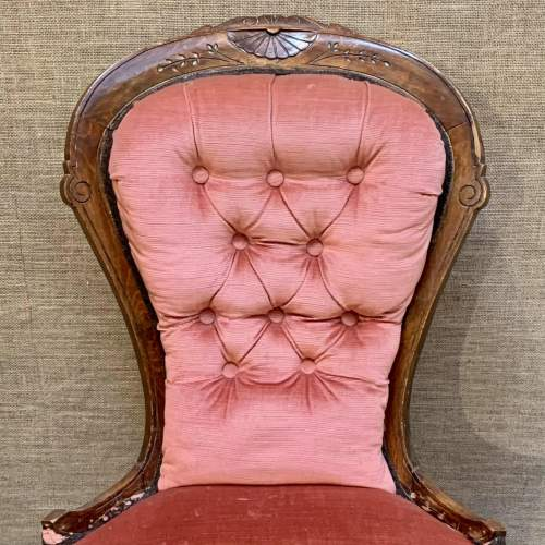 Spoon Backed Chair with Carved Decoration image-2