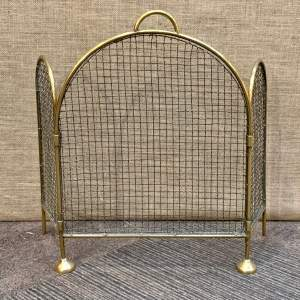 Victorian Brass and Wirework Folding Fireguard