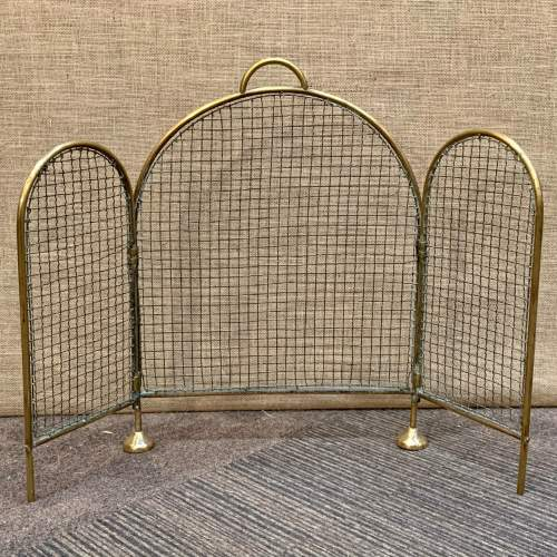 Victorian Brass and Wirework Folding Fireguard image-3
