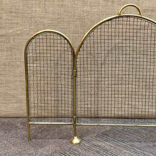 Victorian Brass and Wirework Folding Fireguard image-2