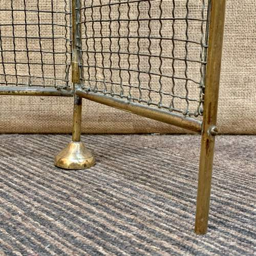 Victorian Brass and Wirework Folding Fireguard image-4