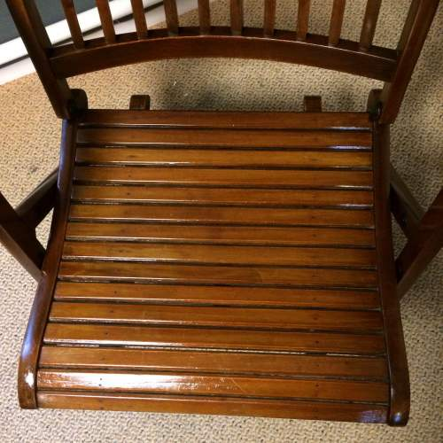 Early 20th Century Mahogany Campaign style Chair image-2