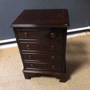 Small  Mahogany Veneered Chest of Drawers