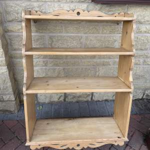 A  Mid Century  Country Set of Pine Wall Shelves