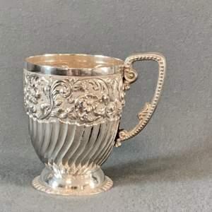 Late 19th Century Silver Christening Mug