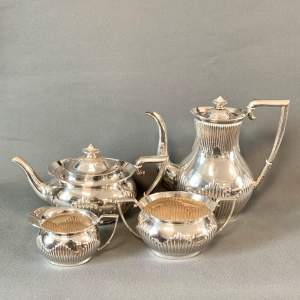 Early 20th Century Four Piece Silver Teaset