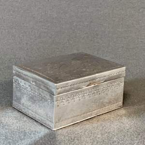 Early 20th Century Silver and Gilded Box