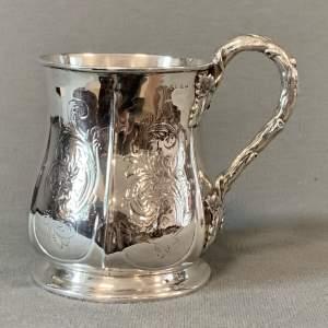 Mid 19th Century Small Silver Tankard