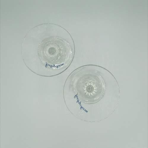 Pair of Twist Stem Babycham Glasses image-2