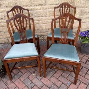 19th Century Set of Four Oak Dining Chairs