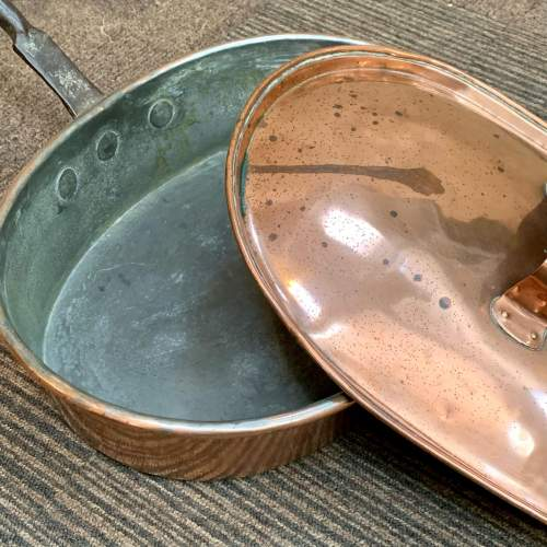 19th Century Large Shallow Copper Pan image-4