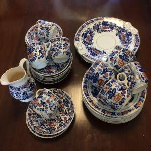 Victorian Blue and White Teaset