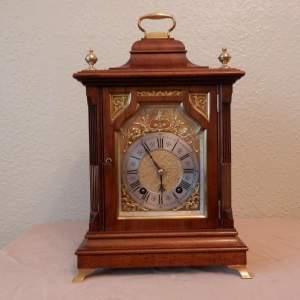 Walnut Mantel Clock by Lenzkirch
