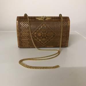 Mid 20th Century Handmade Straw Shoulder Bag or Clutch