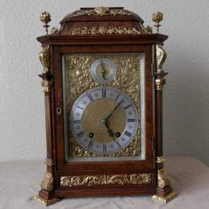 Walnut Mantel Clock by Lenzkirch Circa 1895