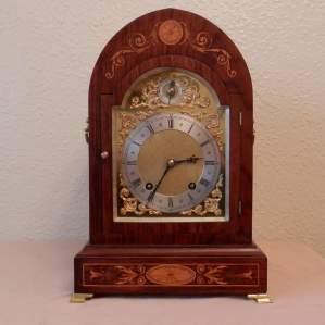 Inlaid Rosewood Mantel Clock by Winterhalder and Hoffmeir