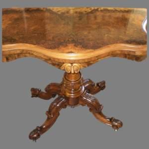 A Victorian Burr Walnut Card Table