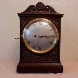 English Bracket Clock with Fusee Movement on Chains