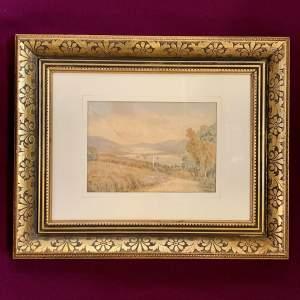 William Longmire Watercolour Painting of Windermere