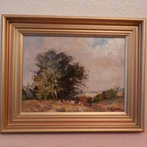 Oil Painting on Board by Ivan Taylor - Summer Landscape Hidlestone