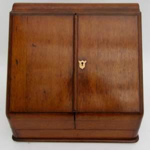 Victorian Golden Oak Stationary Cabinet