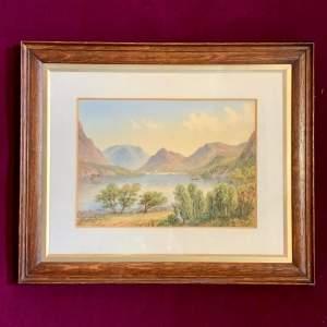 20th Century William Longmire Watercolour Painting from Ullswater