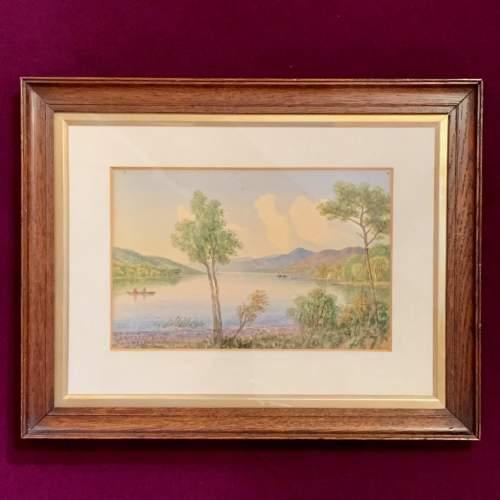 20th Century William Longmire Watercolour Painting of Coniston image-1