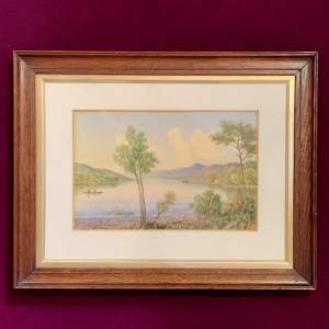 20th Century William Longmire Watercolour Painting of Coniston