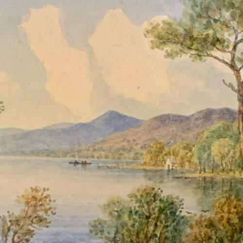 20th Century William Longmire Watercolour Painting of Coniston image-2