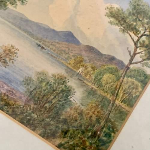 20th Century William Longmire Watercolour Painting of Coniston image-4