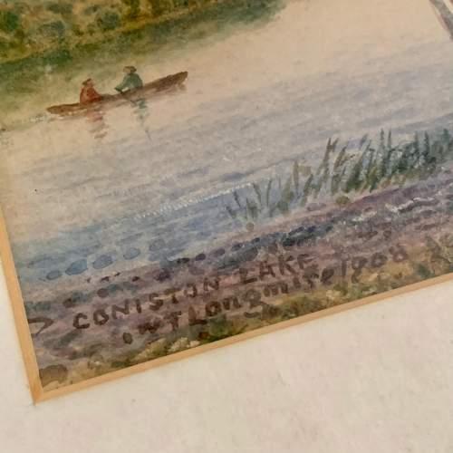 20th Century William Longmire Watercolour Painting of Coniston image-5