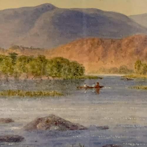 20th Century William Longmire Watercolour Painting of Rydal Lake image-3