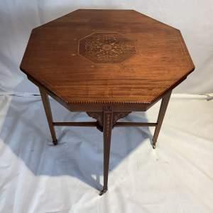 Pretty Mahogany Inlaid Occasional Tea Table