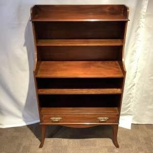 Mahogany Cascading Inlaid Bookcase