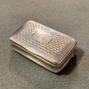 18th Century Silver Snuff Box