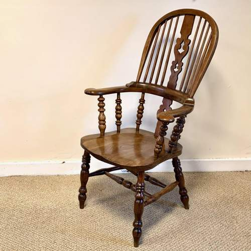 Near Pair of Victorian High Back Windsor Chairs image-2
